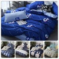 3/4 pcs Bedding Set Kids Child Soft Cotton Bed Linens Single Twin Queen King Size Duvet Cover 1.2m 1.35m 1.5m 1.8m 2m 220x240 cm