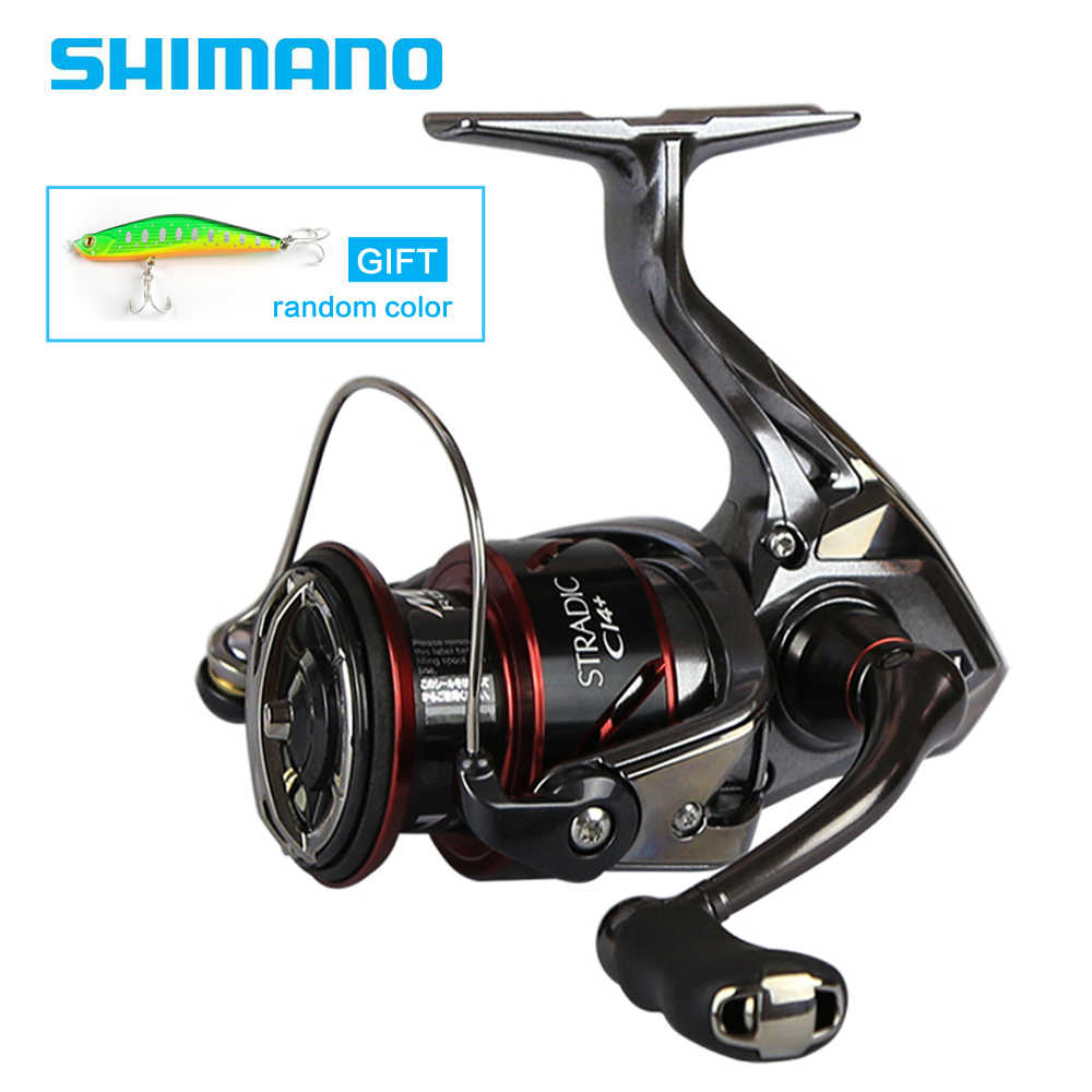 SHIMANO Original STRADIC CI4+ 1000 2500 C3000 4000 Spinning Fishing Reel 6+1BB 6.0:1/6.2:1 X-Ship MGL ROTOR Spinning
