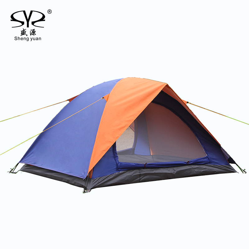 Outdoor Ultralight 2 Person Double Double Layer Camping Tent 4 Season With 2 Person Mat camping hiking Beach UV Protection tents цена