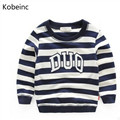 Boys Hoodies And Sweatshirts Striped Children Tops Kids Clothes Boys Sweatshirts 2017 Autumn Letters Long Sleeve Sudaderas Ninos