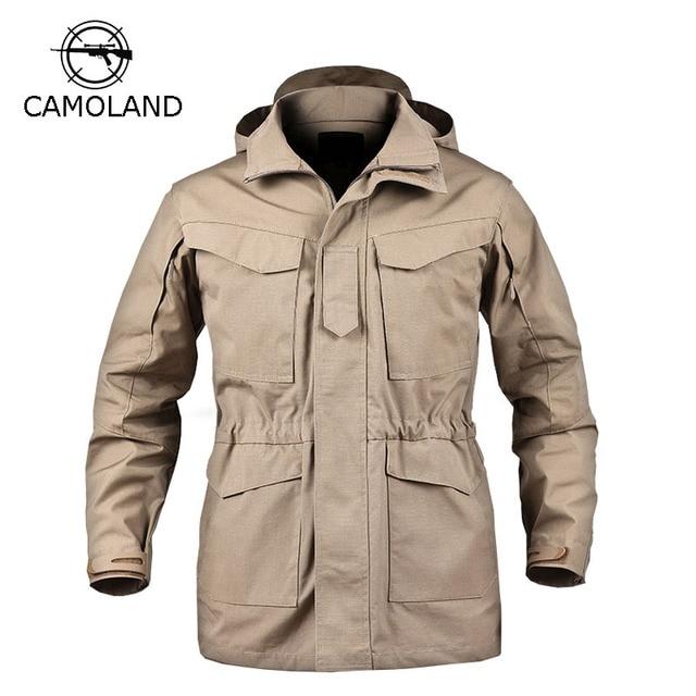 M65 Jacket Tactical Jacket Men Coat Autumn Winter Windbreaker Military  Clothes Hooded Army Field Jacket Male Parkas Waterproof 3bd8f250c