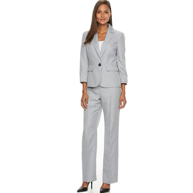 Women Tuxedos Lapel Suits For Women Custom Fashion one Button Business Women Suits jacket+pants two-piece