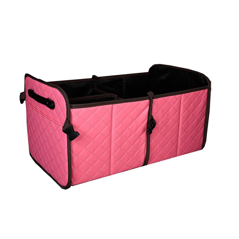2 in 1 PU leather Car Boot Organizer Collapsible Box for Car Trunk Storage Pink Multifunctional Portable Car Trunk Organizer 10pcs replacement hepa dust filter for neato botvac 70e 75 80 85 d5 series robotic vacuum cleaners robot parts