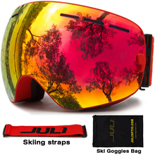 Ski Goggles,JULI Snow Goggles UV400 Protection Anti-Fog Dual Lens OTG for Men Women Youth Snowmobile Skiing Snowboard Goggles