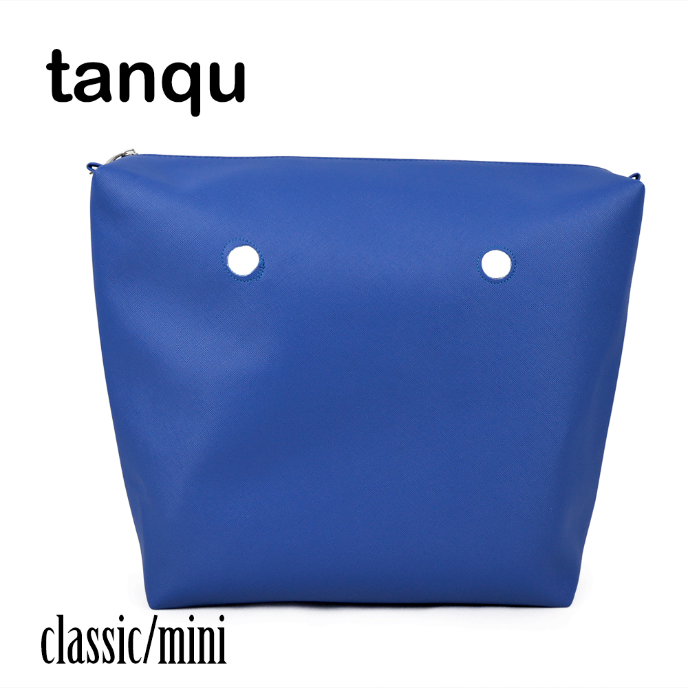 tanqu PU Leather Lining Pocket for Obag Waterproof Inner Classic Mini Lining Insert for O BAG tanqu floral waterproof canvas fabric inner pocket lining for omoon light obag handbag insert organizer for o moon baby o bag