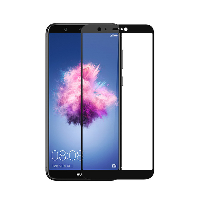 sneakers for cheap b323e 91f39 US $1.83 8% OFF|Full Cover Tempered Glass For Huawei P Smart PSmart Plus  2019 FIG L21 FIG LX1 Screen Protector Black Protective Film Guard-in Phone  ...