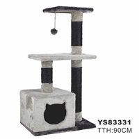 Domestic Delivery Cat Furniture Wood Product Cat Face Scratching Post Cat Playing Funny Climbing Frame Cat