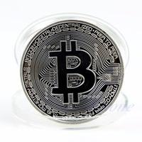 Gold Plated Bitcoin Coin Collectible BitCoin Art Collection Gift Physical