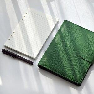Image 5 - משרד עסקי תיקיית מחברת כתב עת ירוק רופף עלים קלסר סדר יום 2021 מחברת מתכנן A5 A6 כריכה קשה יומן פנקס