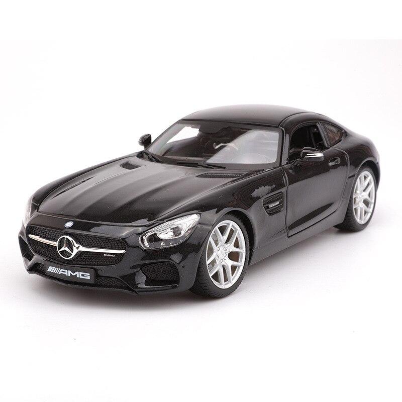 1:18 échelle simulée Sport alliage voiture modèle jouets pour Benz Amg Gt voiture modèle avec Suspension commande au volant avec boîte