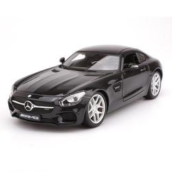 Juguetes de coche en miniatura de aleación deportivos simulados a escala 1:18 para Benz Amg Gt, modelo de coche con Control de volante de suspensión con caja
