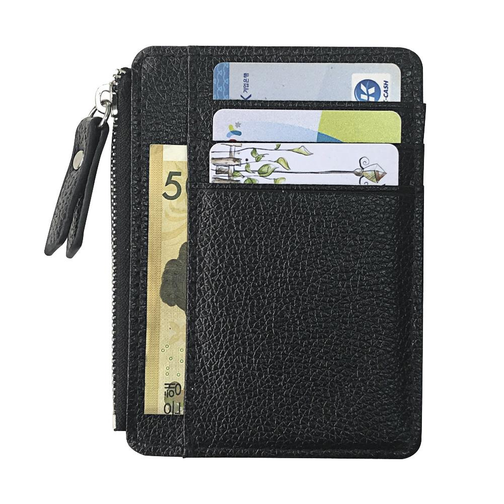 Coin Purse Wallet-Cards Case Rfid Cash-Holder Zipper Blocking Men
