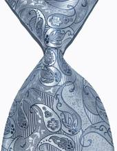 Brand New Classic Silver Tie Paisley Jacquard Woven 100% Silk Fashion Business Wedding Party Men's Ties Necktie