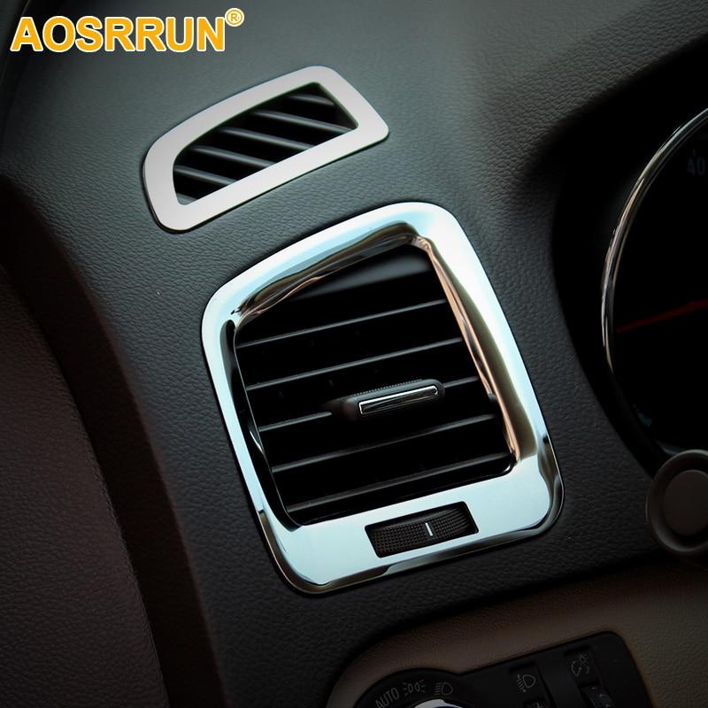 Chrome- ի օդային ելքի ծածկով զարդարված շղթաներ Ավտոմեքենաների պարագաներ Opel Insignia սեդան Sport Tourer 2009 2010 2011 2012 2013 2014