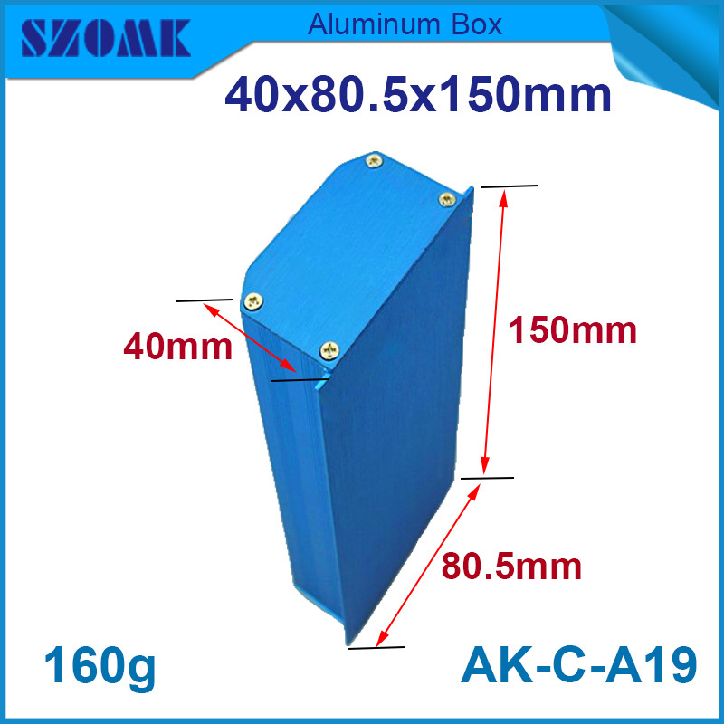 1pcs/lot free shipping blue aluminum case for electronics and industry use oxygened and powdered well in China of all size tp link archer c2 маршрутизатор