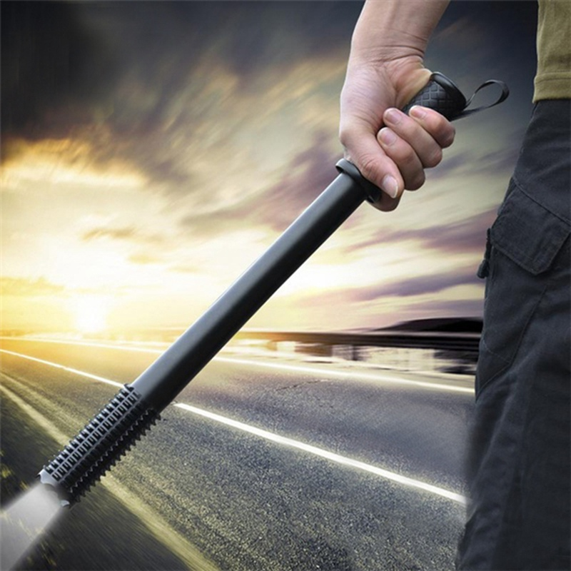 Outdoor Emergency Anti Wolf Self Protection Tools Torch Lamp Powerful Emergency Defensive Lamp with LED Flashlight ...
