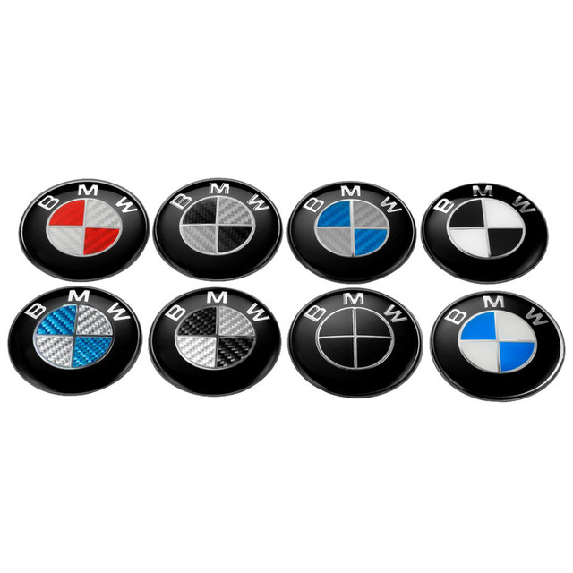 For BMW Steering Wheel 45mm Car Emblem for BMW z3 z4 g30 i8 E53 E32 E60 E38 E70 E81 E21 F11 F30 Internal Decoration Auto Sticker