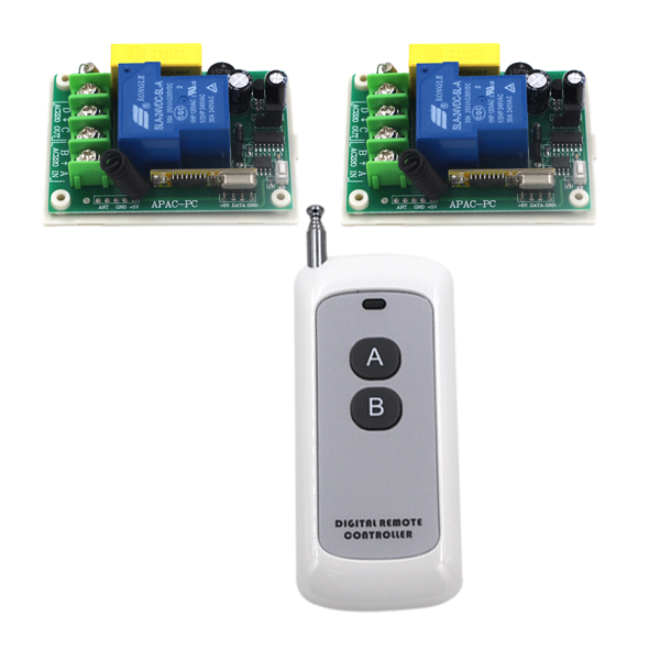 Brand New 1 channel remote control switch box AC 220V 30A relay wireless remote control switch SKU: 5233 ac220v 30a 1000m 1 channel wireless remote control switch 3000w high power relay 15 receiver for water pump sku 5512