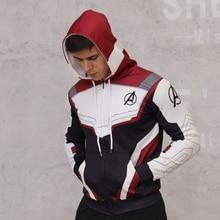 Avengers Endgame Hoodies Cosplay Avengers chaquetas 3D Pullover sudadera Superheros con capucha cremallera Hoodies para hombres mujeres