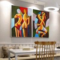 2 piece khỏa thân vẽ tranh sexy tranh trừu tượng hiện đại canvas wall art decor bằng tay sơn dầu trên vải hình ảnh living room