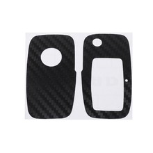 e210165a9504 QILEJVS Carbon Fiber Car Key Sticker For VW Polo Passat B5 B6 Golf 4 5 6  Jetta MK6 Tiguan Eos