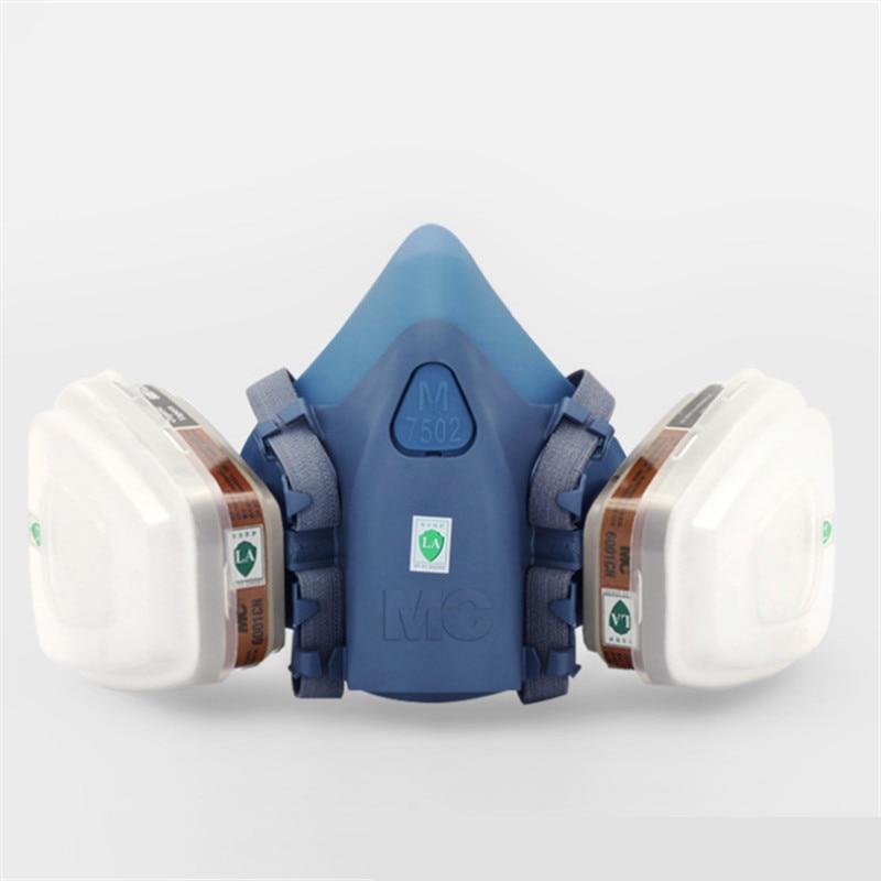 7502 of Reusable Respirator Mask/ Gas Mask Portable Respirator protective Fire masks 3m 6300 6003 half facepiece reusable respirator organic mask acid face mask organic vapor acid gas respirator lt091