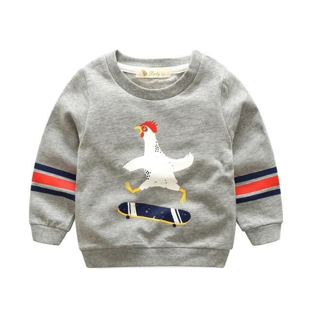 2017 весна девушки одежда для новорожденных мальчиков толстовка хлопок печати милые дети одежда и пиджаки детский мультфильм толстовка мальчики 1-8 год