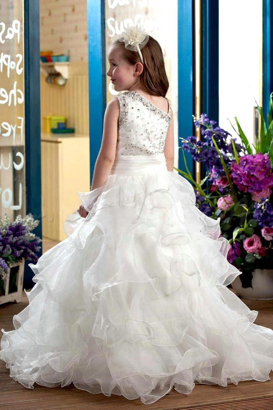 Online Shop 2016 New Arrival Beaded Flower Girl Dresses Pretty ...