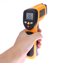 Big discount LCD Display IR Infrared Handheld Thermometer -50 To 650 Degree Celsius Auto Temperature Meter Sensor Infrared Thermometer