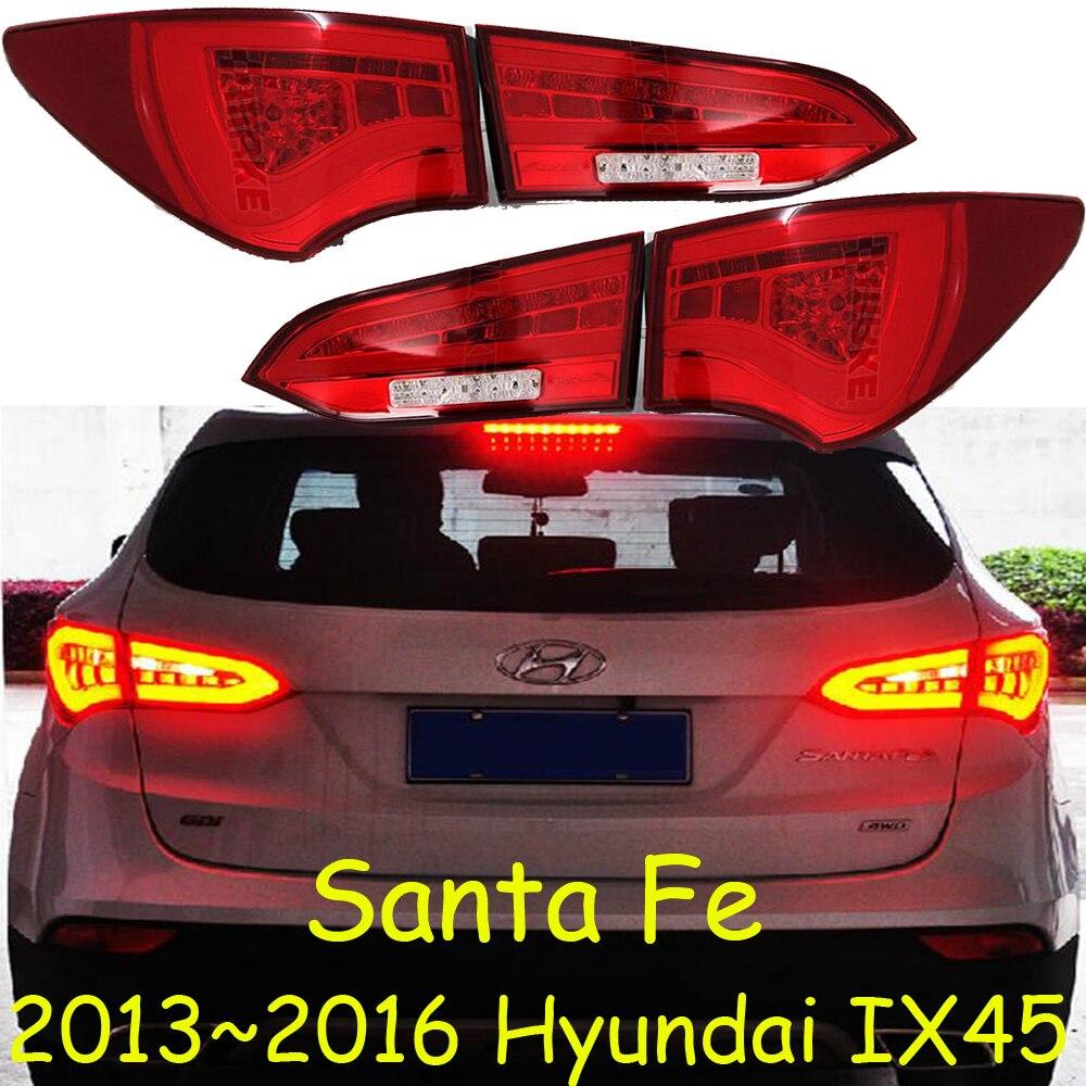 car-styling,Santa Fe Taillight,IX45,2013~2016,led,Free ship!4pcs,Santa Fe fog light;IX 45,Santa Fe tail lamp,Chrome;SantaFe куплю диски оригинальные r18 с датчиками давления для santa fe new