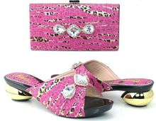 2016 pink Italian Shoes With Matching Bags For Party, High Quality African Shoes And Bags Set for Wedding(Szie:37 or 43)!!BK1-4