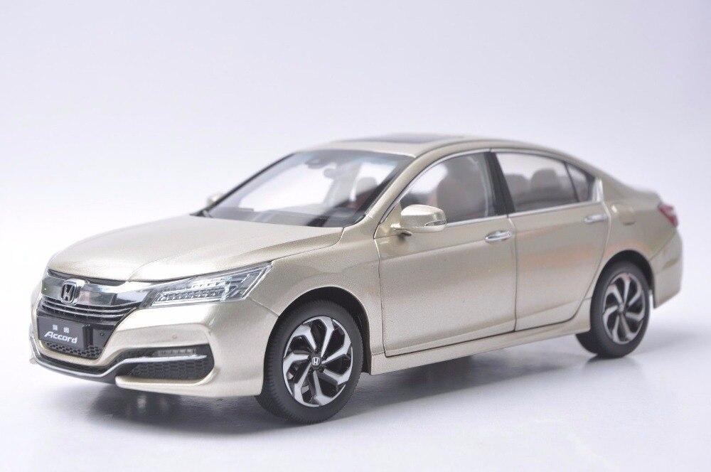 Honda Of Tenafly >> 1:18 Diecast Model for Honda Accord 10 2016 Gold Alloy Toy ...