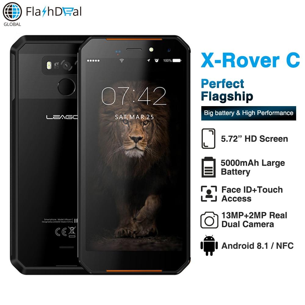 "LEAGOO XRover C IP68 Waterproof Smartphone Fingerprint Face ID 4G 5.72"" IPS 5000mAh 2GB 16GB 13MP Dual Rear Cams Mobile Phone"