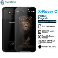 LEAGOO XRover C IP68 Waterproof Smartphone Fingerprint Face ID 4G 5.72 IPS 5000mAh 2GB 16GB 13MP Dual Rear Cams Mobile Phone