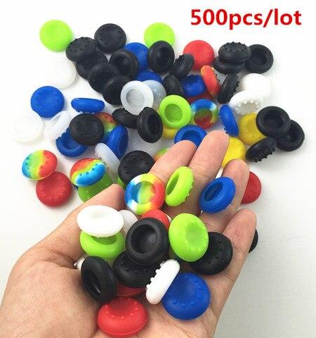 Caps de Proteção da Pele para Ps4 Lote Silicone Polegar Vara Joystick Grip Case Magro Pro Ps3 Ps4 Xbox um 360 Controlador Guardas 500 Pçs –