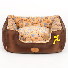 Soft Pet Dog Nest Puppy Cat Bed Fleece Warm House Kennel Plush Mat Pet Products Small Dog Bed Supplies