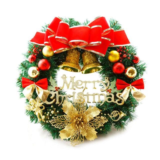 christmas garlands decorations merrt christmas small bell pendant bow decor ornament door wreath wall hanging wreath