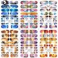 Sara Nail Salon 1 Hoja Nail Art Sticker Cielo Azul Sunset Yellow Foil Decal Consejos Decoraciones Del Arte Del Clavo de Transferencia de Agua HOT334-339