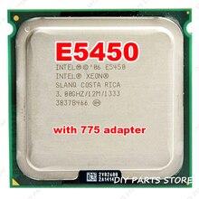 INTEL XONE E5450 CPU intel E5450 PROZESSOR 775 quad core 4 core 3,0 MHZ LeveL2 12 Mt Arbeit auf 775 mit 2 stücke adaperts