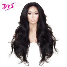 Deyngs Synthetic Lace Front Wigs For Women Black Long Body Wave Fluffy Guleless Natural Wigs for African American Women