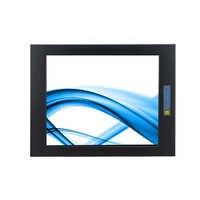 19 zoll touch screen LCD display, 5 draht resistiven touchscreen, Metall struktur, eingebettete installation