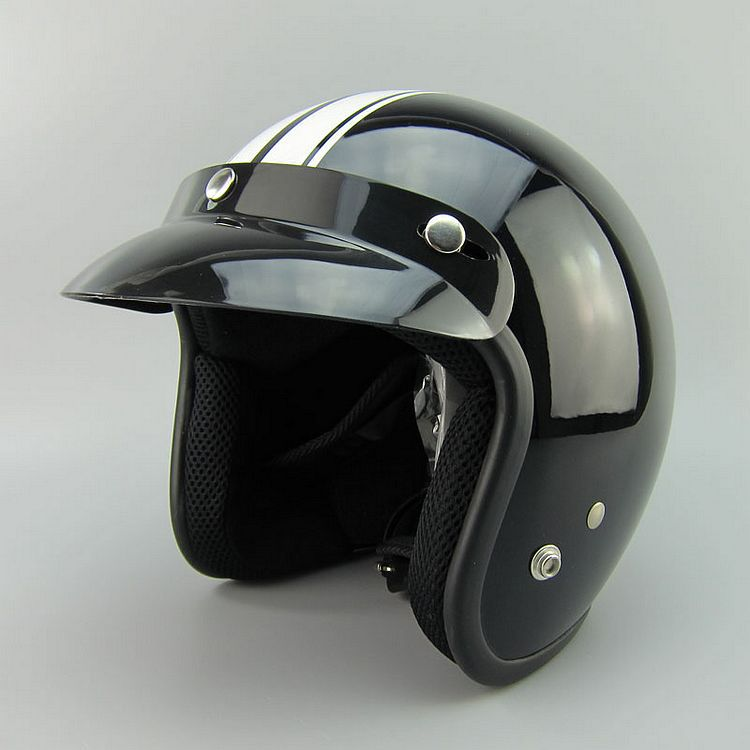 New arrival brand halley Motorcycle helmet retro scooter open face helmet vintage 3/4 moto casco safety motociclistas capacete