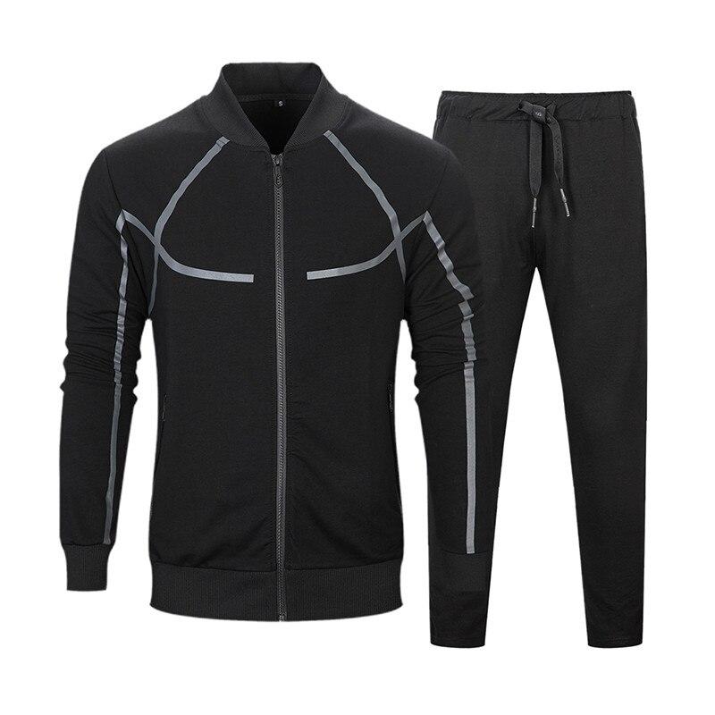 Ensemble de vêtements de sport pour hommes nouveau été automne vêtements hommes Jogging ensembles veste + pantalon survêtement pour hommes vêtements EU taille S-2XL