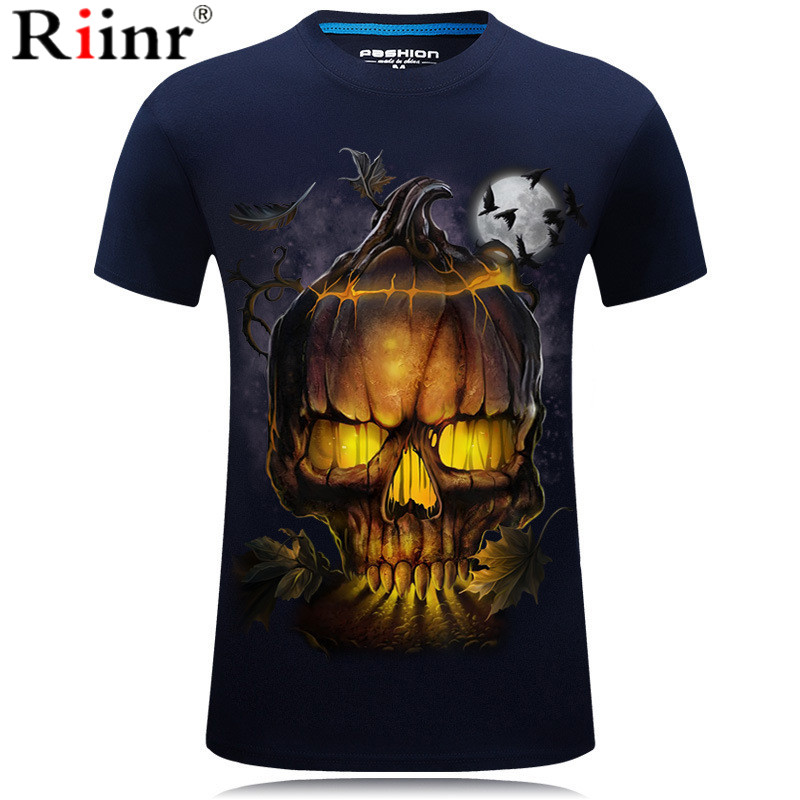 New Skull T Shirt Men Women 3D Print Fire Skull T-shirt Short Sleeve Hip-Hop Tees Summer Tops Cool t shirt Halloween Shirt