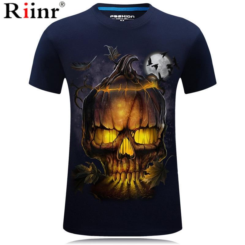 New Skull T Shirt Men Women 3D Print Fire Skull T-shirt Short Sleeve Hip-Hop Tees Summer Tops Cool t shirt Halloween Shirt