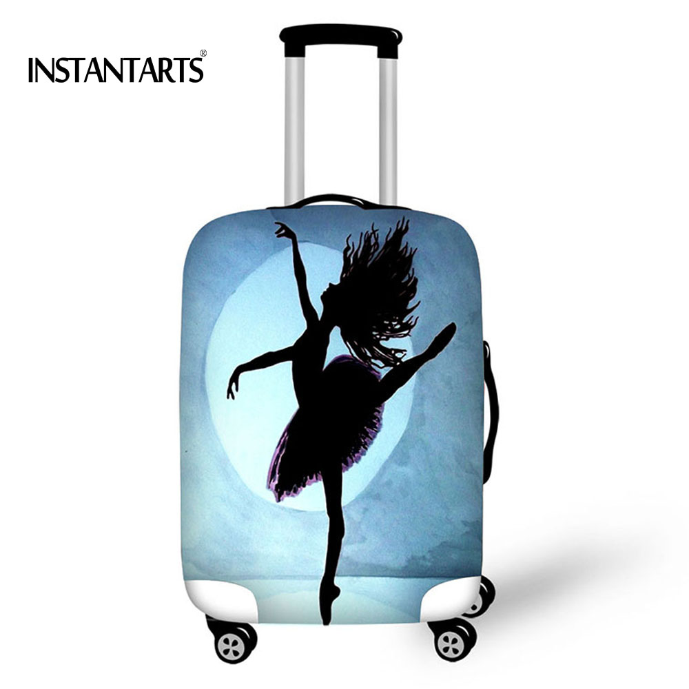 INSTANTARTS Ballet Printing Luggage Protect Cover Suitcase Covers Waterproof Luggage Covers Accessory Travel Trolley Cases Cover