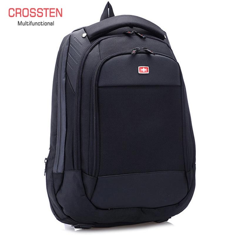 """Crossren Multifunctional swiss bags 15"""" laptop backpack Schoolbag Luggage Bag Waterproof Urban Rucksack Travel Bag A16-in Backpacks from Luggage & Bags"""