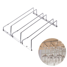 3 Row Stainless Steel Wine Glasses Holder Wine Goblet Rack Kitchen Bar Wall Hanging Champagne Wine Rack Glass Cup Holder Storage 3 ft 5 column wine rack premium redwood unstained