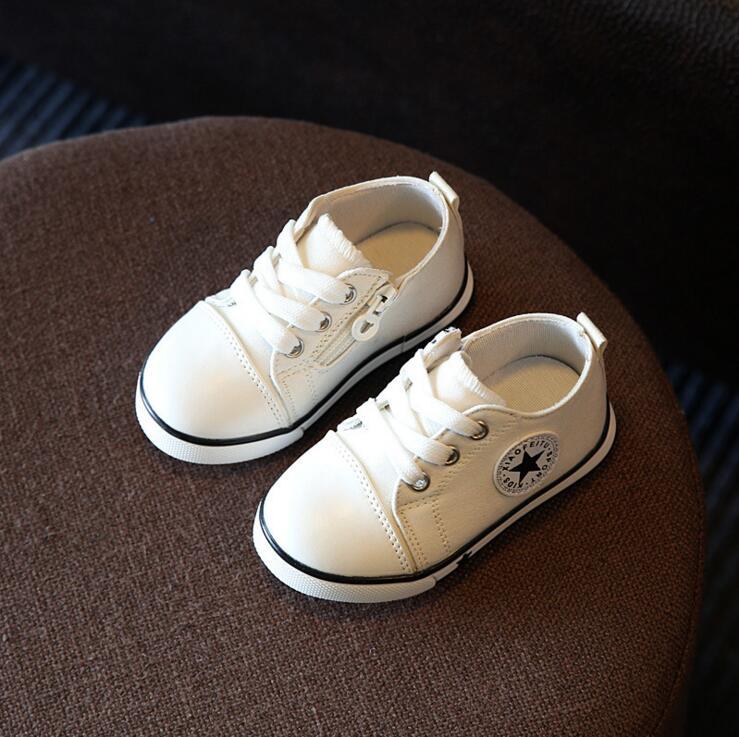 2018 niños de la lona del resorte niña Zapatillas transpirable zapatos de niños y niñas no Smelly Soft Chaussure/niños Sneakers