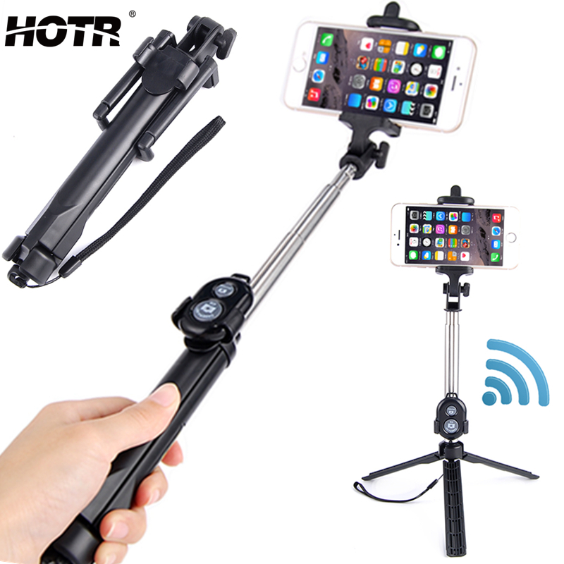 hotr bluetooth selfie stick tripod bluetooth remote control palo selfie wireless extendable for. Black Bedroom Furniture Sets. Home Design Ideas